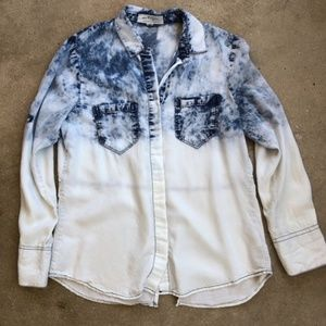Thread & Supply Acid Wash Ombre Chambray Shirt